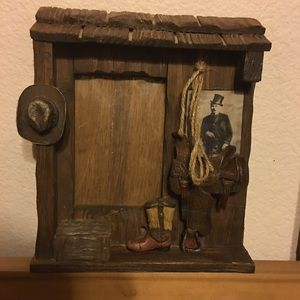 Old western shadow box picture frame